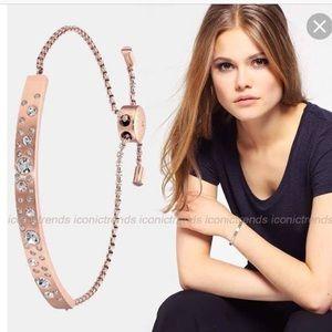 Rose gold Michael Kors pave slider bracelet
